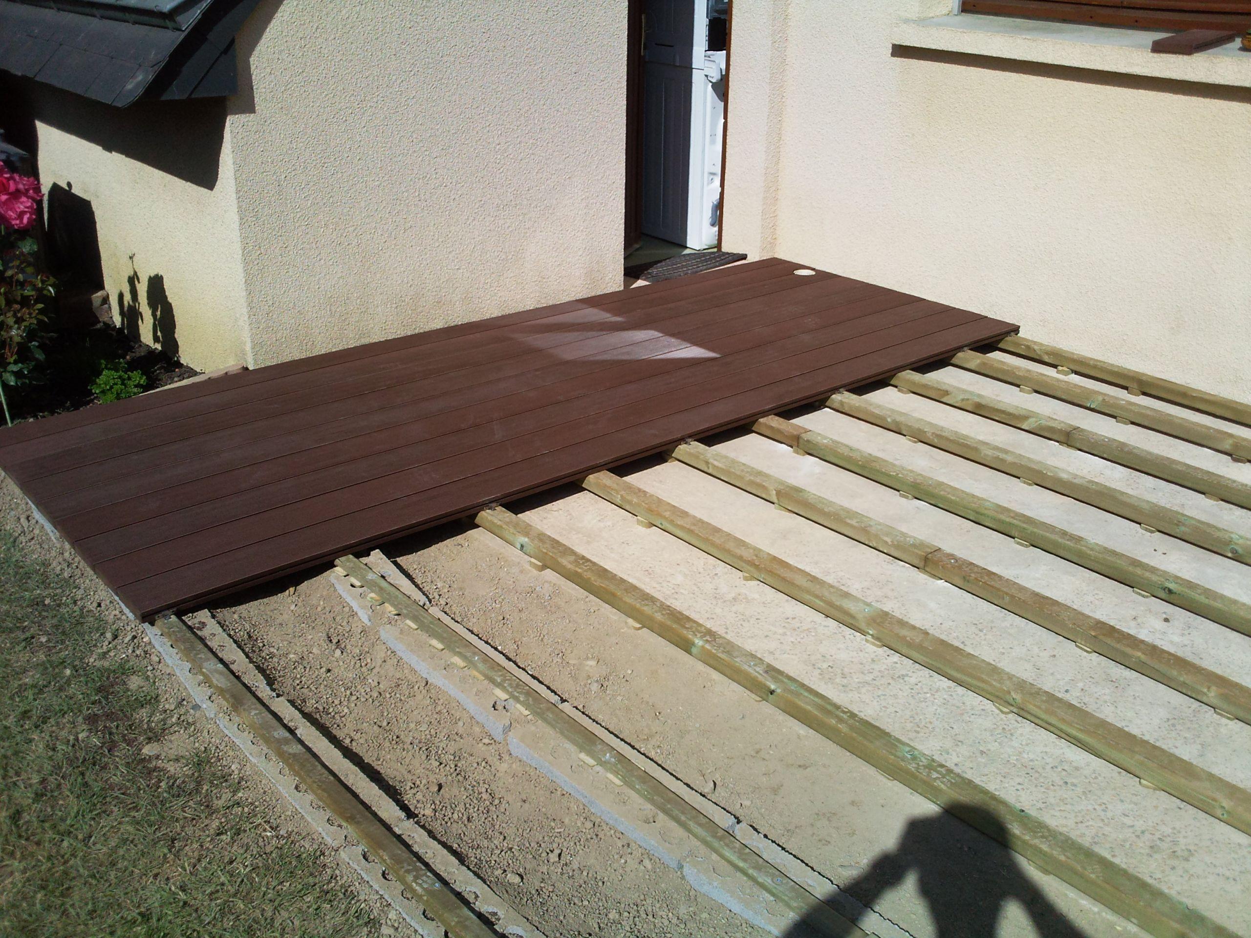 Terrasse posite sur dalle béton
