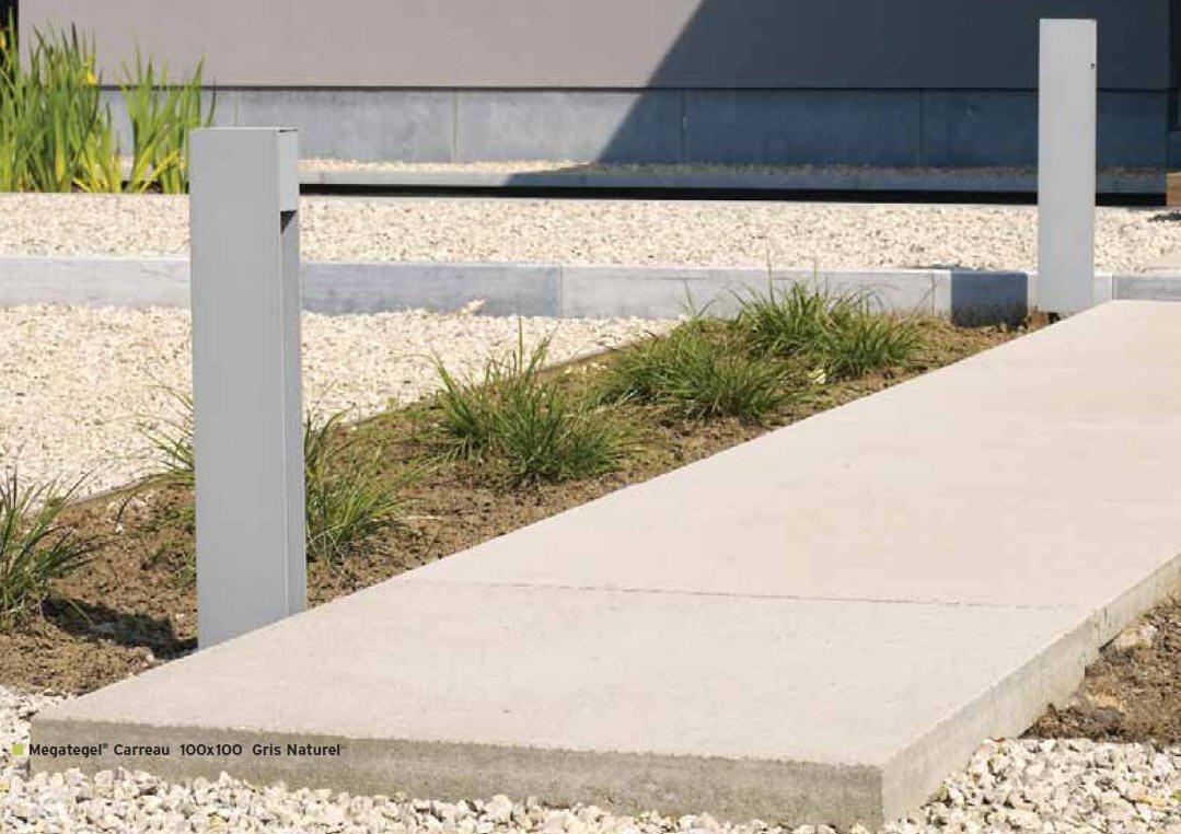 Dalles de terrasse méga en béton