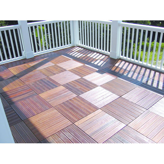 Dalle en bois exotique pour toiture terrasse