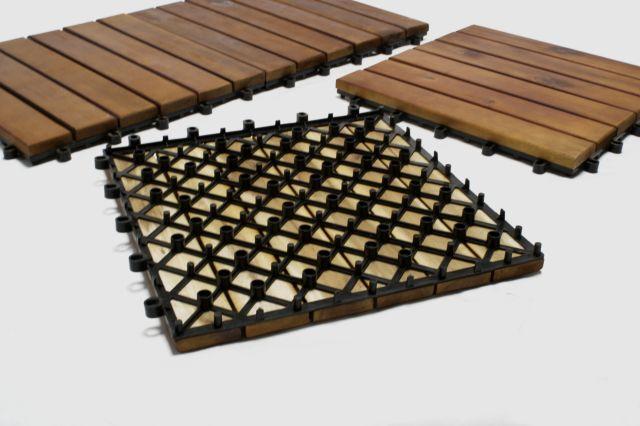 DALLES pour terrasse en bois exotique acacia