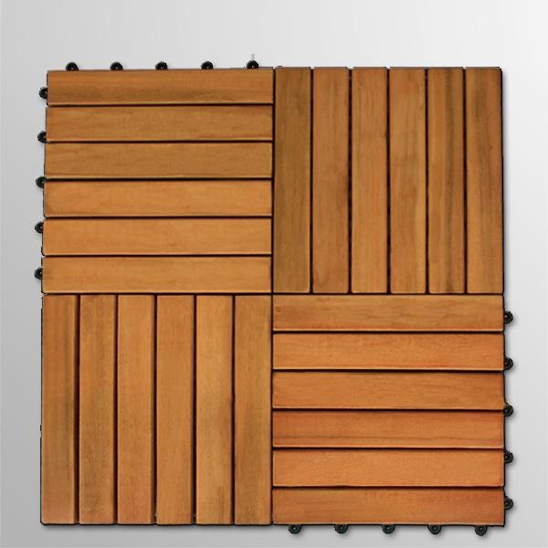 DALLES pour terrasse en bois exotique eucalyptus