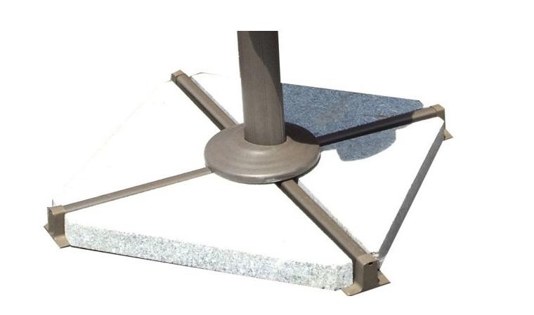 Dalle de parasol en granit dalle triangulaire pour parasol