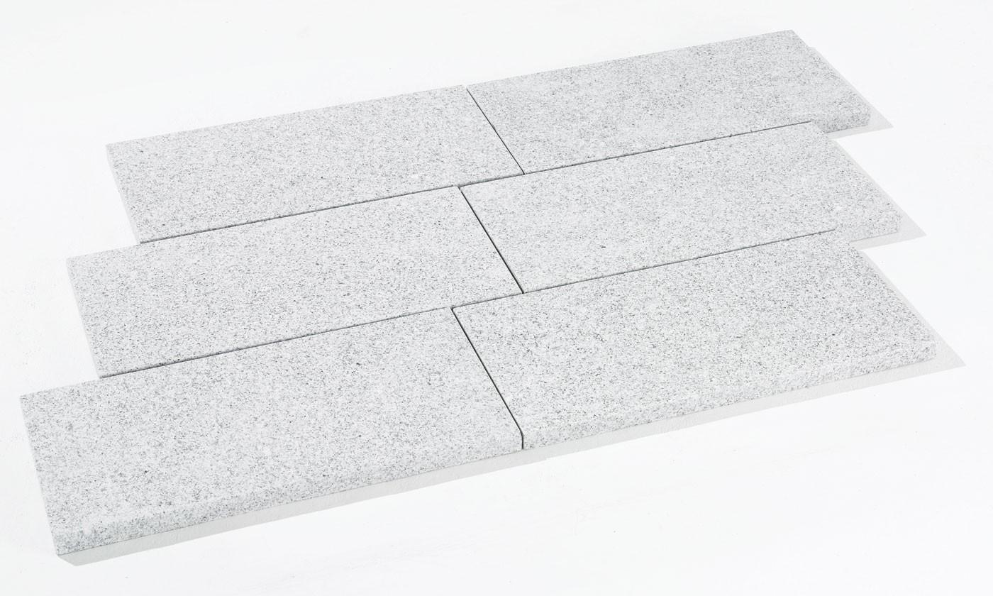 Dalle en pierre naturelle granit flammé G603 40 x 60 x 3 cm
