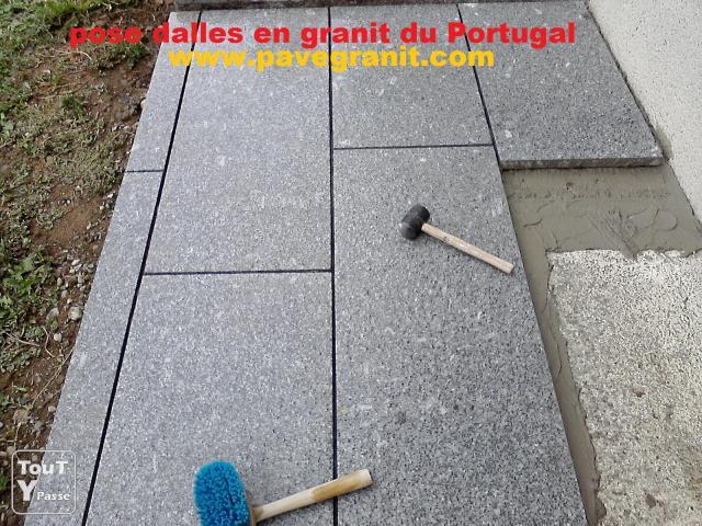 Pose pavés et dalles granit Brétigny sur Orge