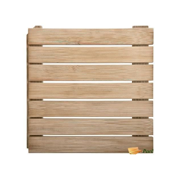 Dalle de terrasse en bois autobloquante 50 Achat Vente