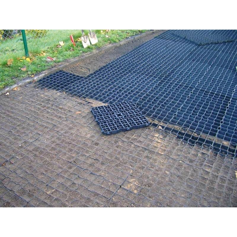 Dalle clipsable pour stabilisation des sols extérieurs