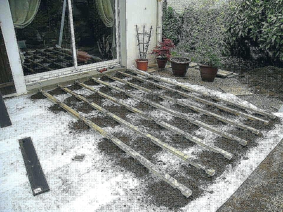 Pose Terrasse En Dalles Sur Plot Dalle Beton Et Plots Pour
