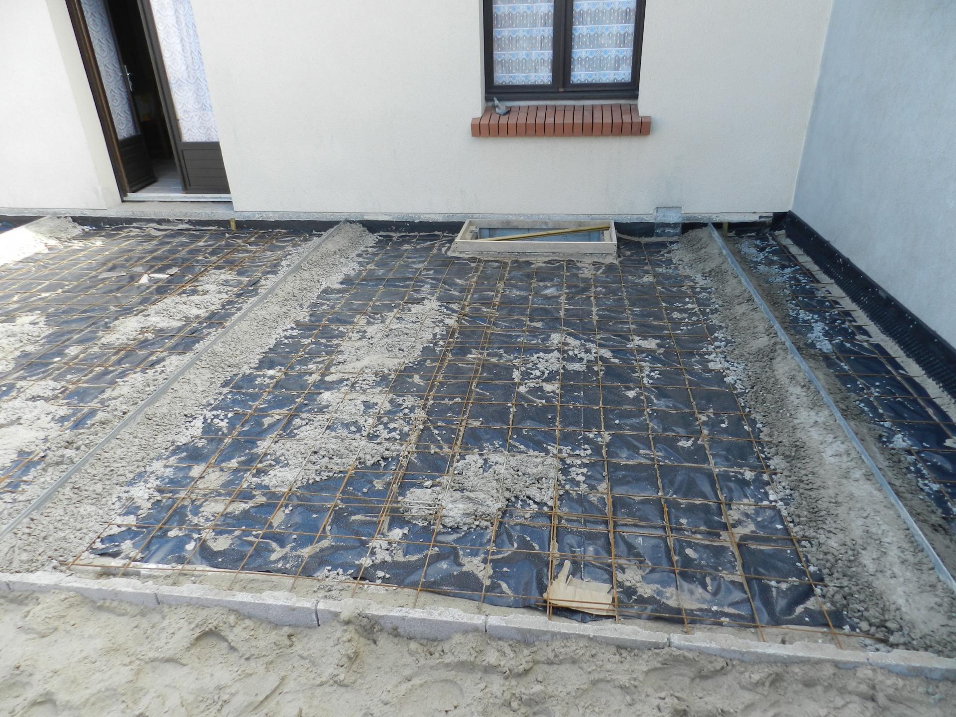 construction dalle béton pour terrasse