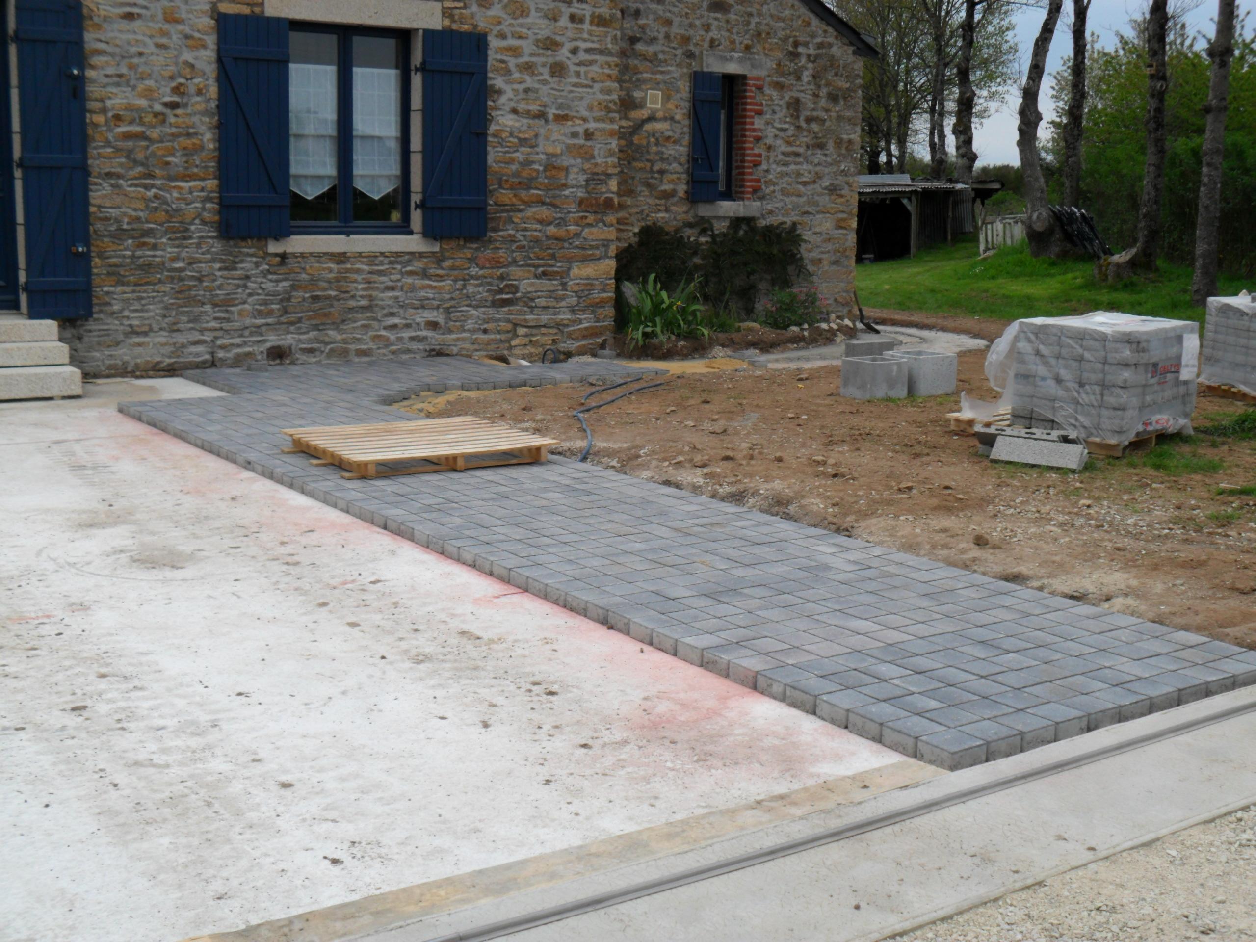 Terrasse en pave sur dalle beton Nos Conseils