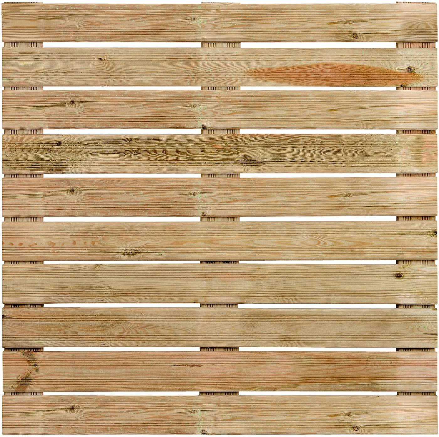 Dalle de Terrasse en Bois Européen Pin Sylvestre 100 x 100