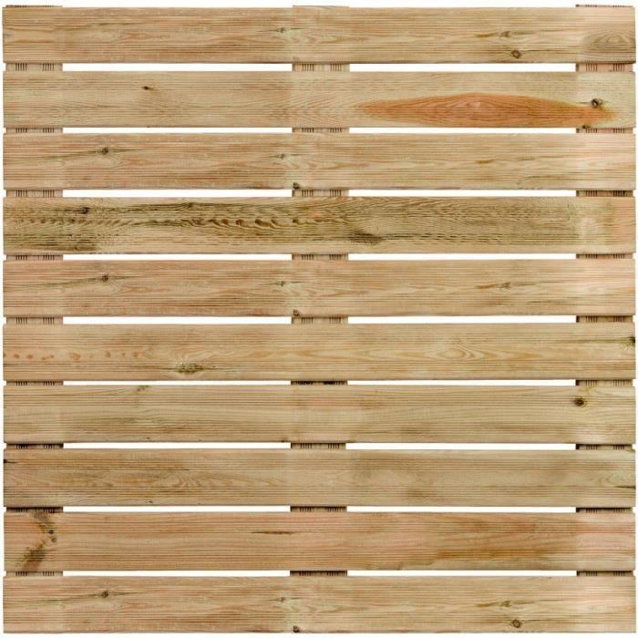 Dalle de terrasse en bois motif droit 100cm Achat