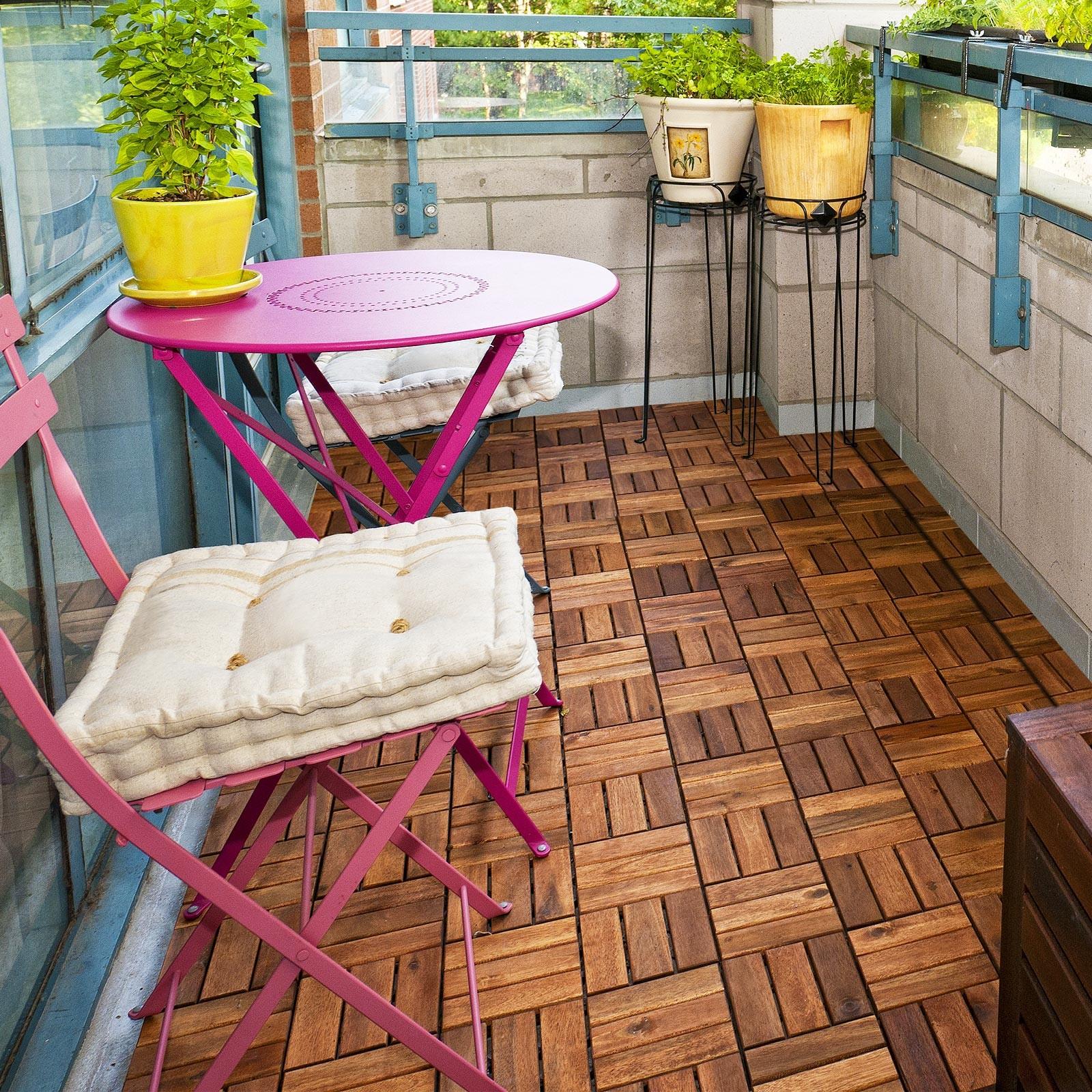 Dalles terrasse en bois système d enfichage