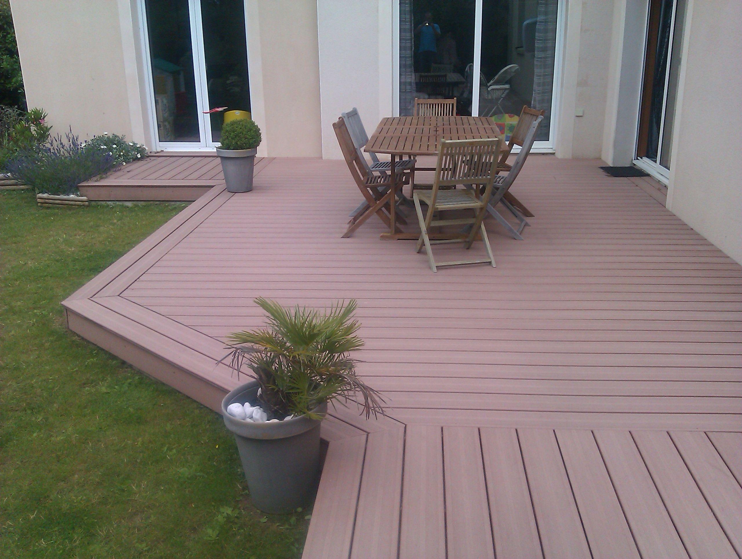 inspiration terrasse bois posite sur dalle beton