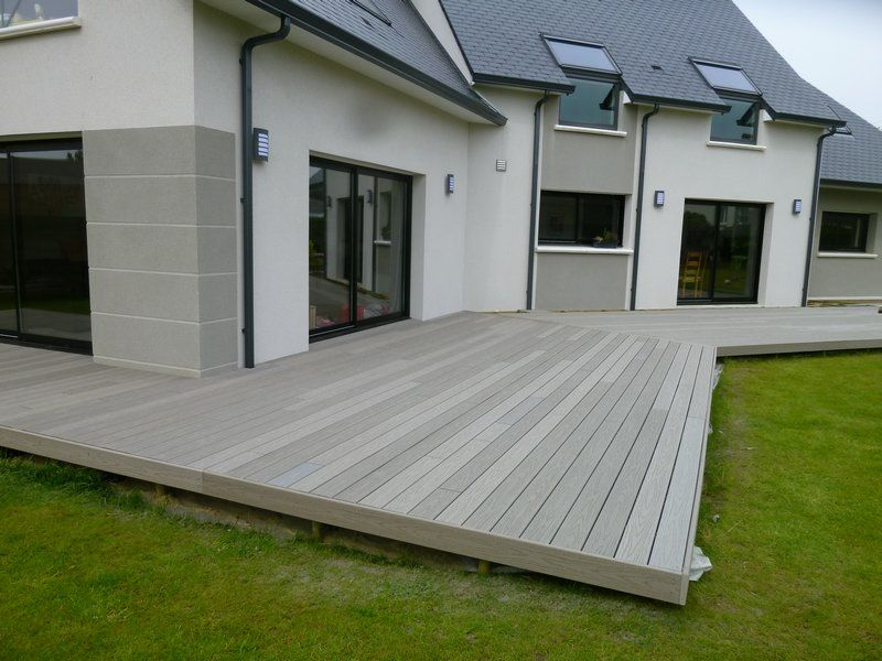 Dalle Terrasse Composite Terrasse Posite Gris 1 Patio In 2019