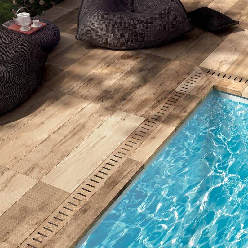 Dalle forte épaisseur imitation bois pour terrasse