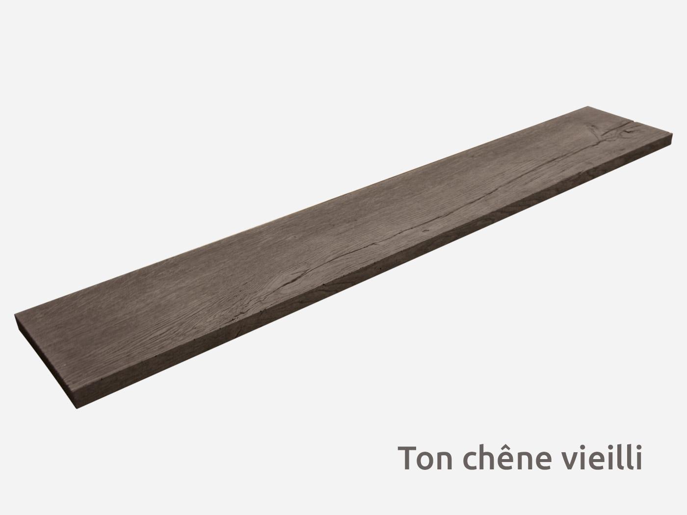 Dalle rectangle pierre reconstituée Wood