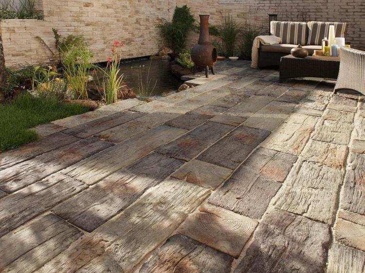 Dalles de terrasse en pierre naturelle types et