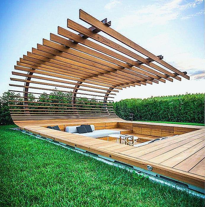 Montage terrasse bois piscine hors sol Mailleraye jardin