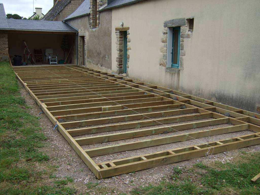 Terrasse en bois pas cher palette Mailleraye jardin