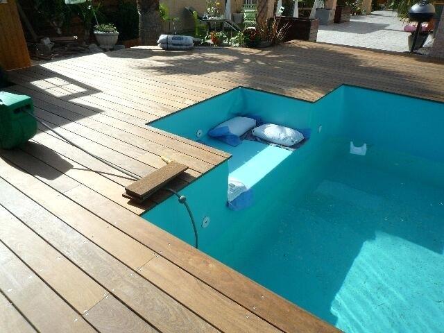 Terrasse piscine bois posite prix Mailleraye jardin