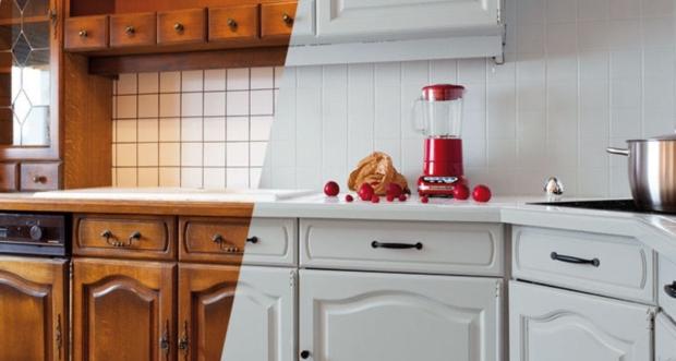 La peinture carrelage au secours du home staging cuisine
