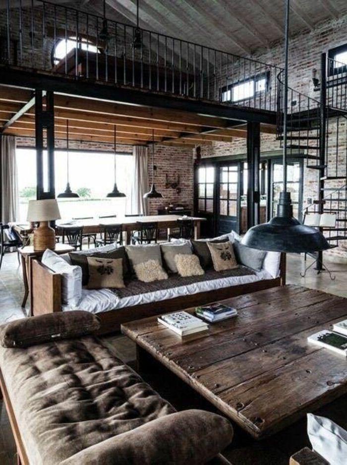 Deco Loft Industriel Mille Et Une Idees Pour Le Salon Style Industriel En 44 Idees Conception Jardin Idees Conception Jardin