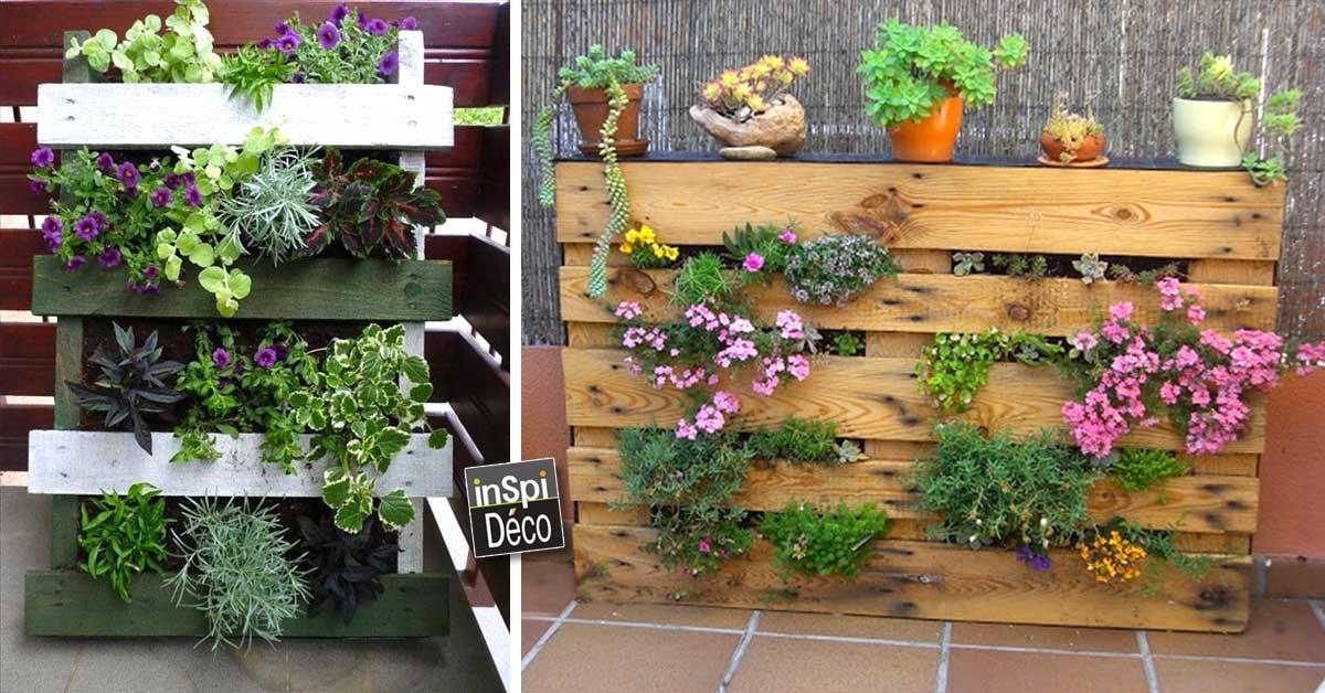 Un mini jardin avec une palette 20 idées pour vous