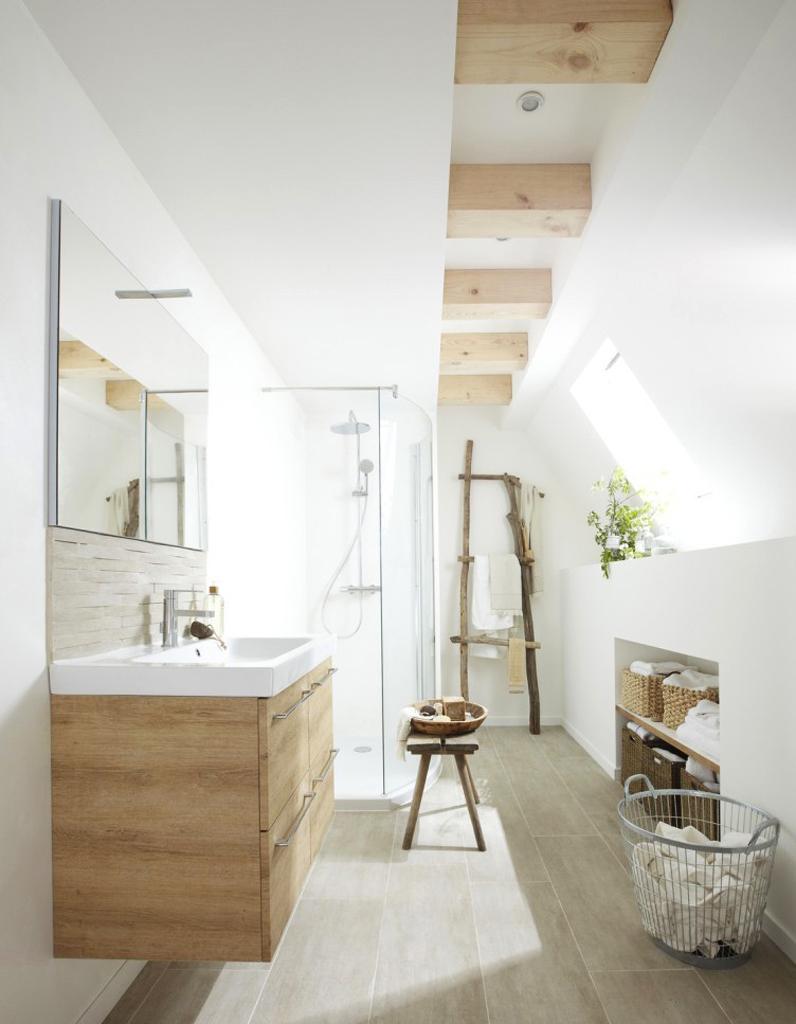 Deco Salle De Bain Bois 10 Façons De Se Créer Une Salle De Bains Zen Elle Décoration