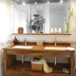Deco Salle De Bain Bois Meuble De Salle Bain Bois Et Blanc Peinture Salon Pour