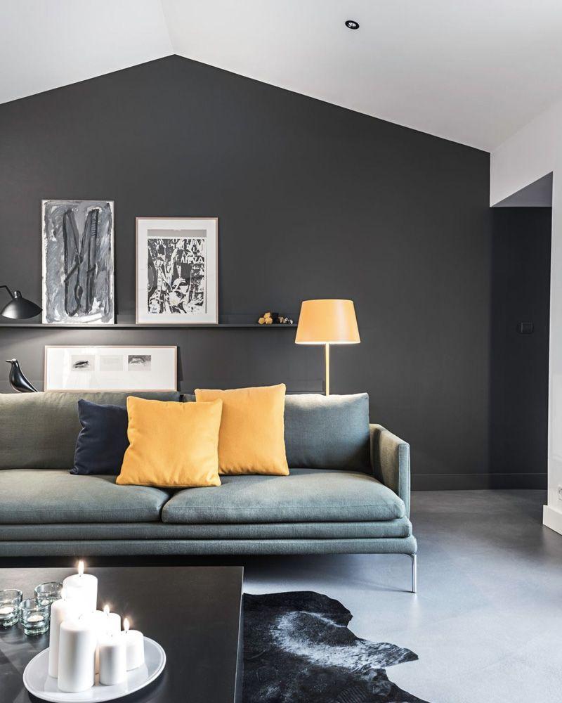 Décorer Un Mur De Jardin deco salon gris ment décorer votre salon avec le gris et le