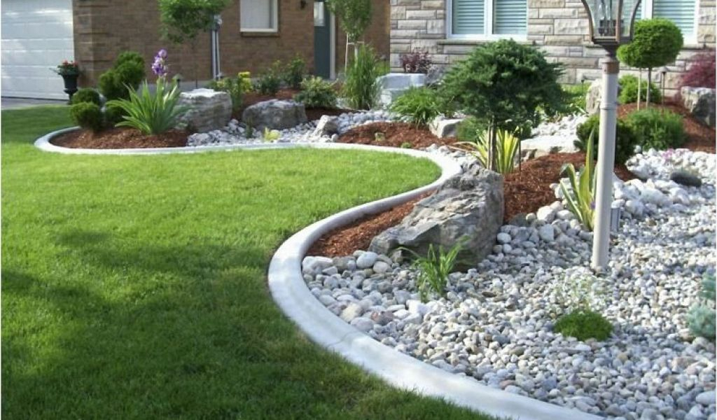 Decor de parterre concept idees conception jardin Decoration parterre