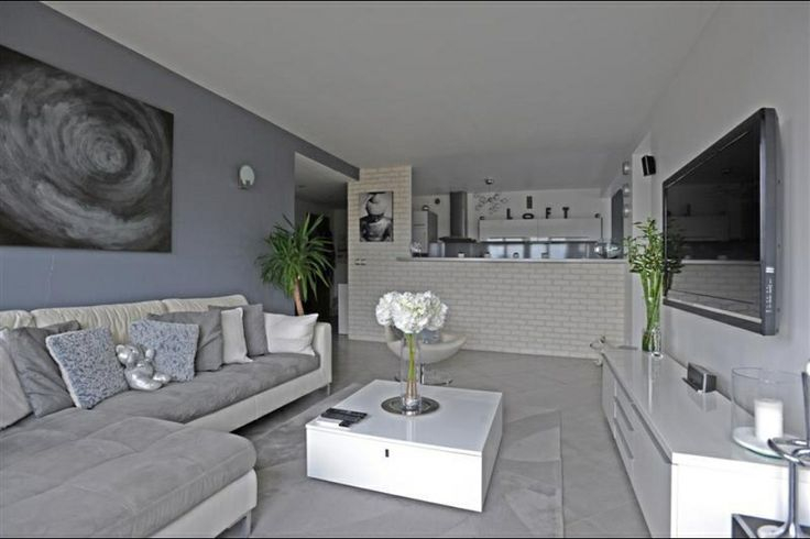 Decoration Salon Moderne Gris Salon Gris Blanc Salon En Grises Pinterest