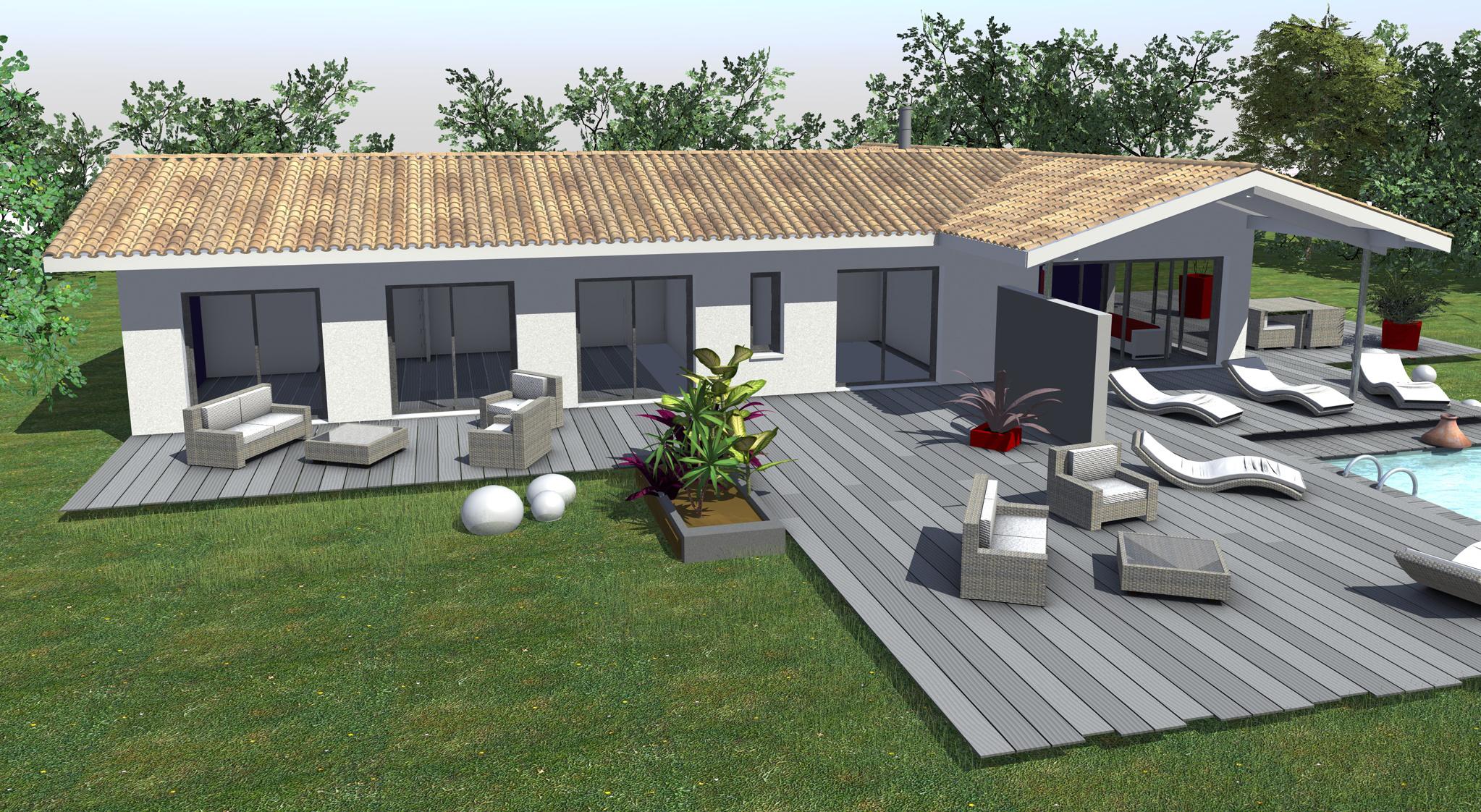 Deco Terrasse Maison Perfect Dco Terrasse Avec Bassin