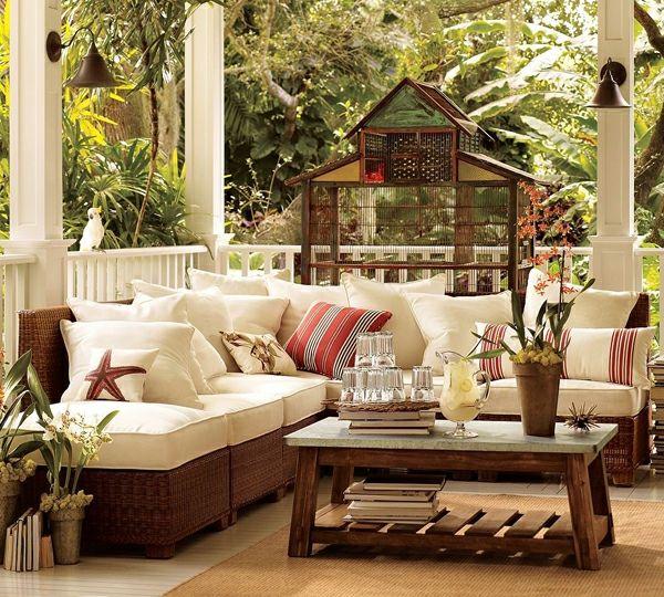 decoration terrase exterieure d un beau salon style