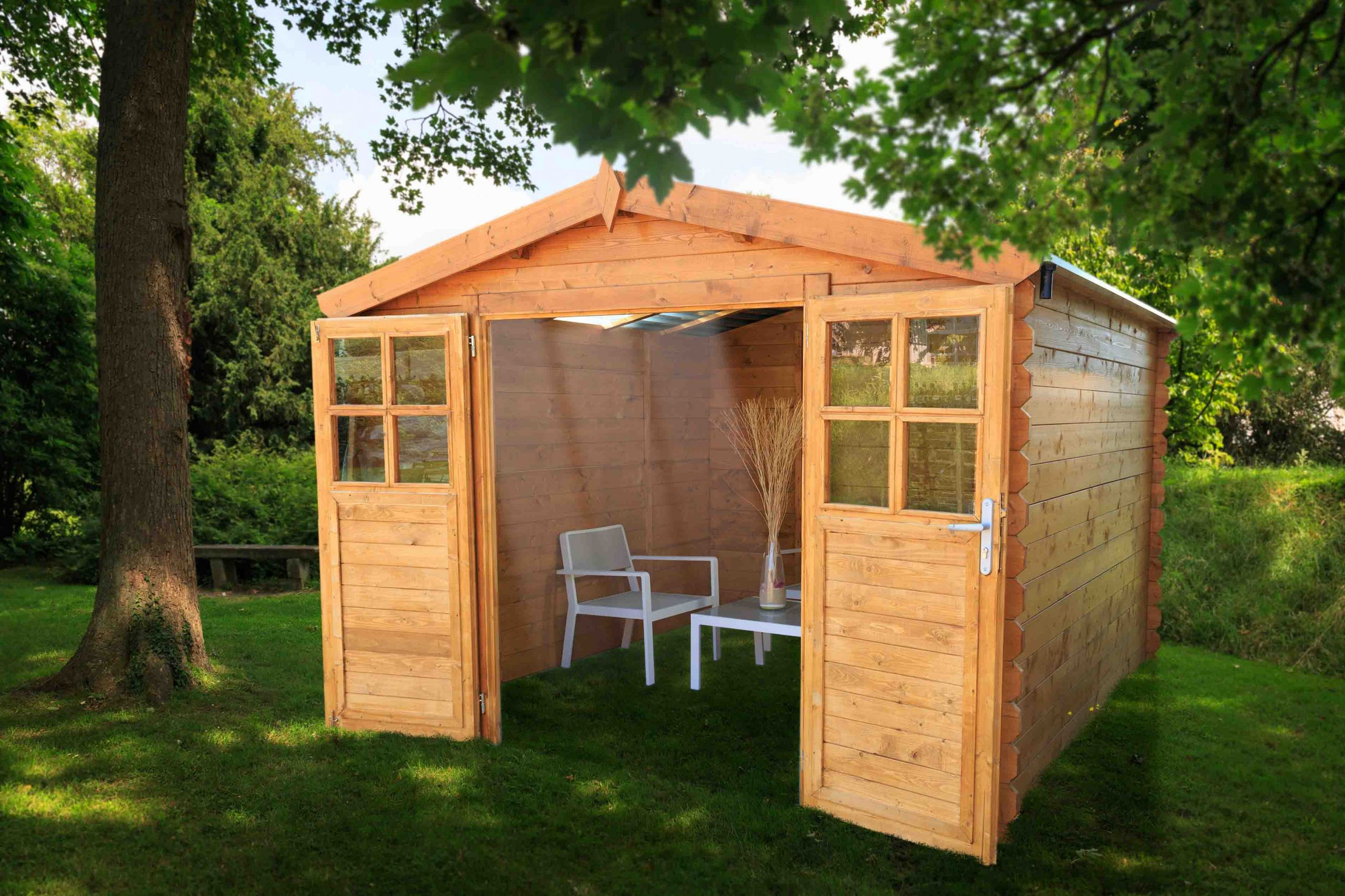 Destockage Abri De Jardin Abri De Jardin En Bois soleil 3x3 Avec toit Transparent