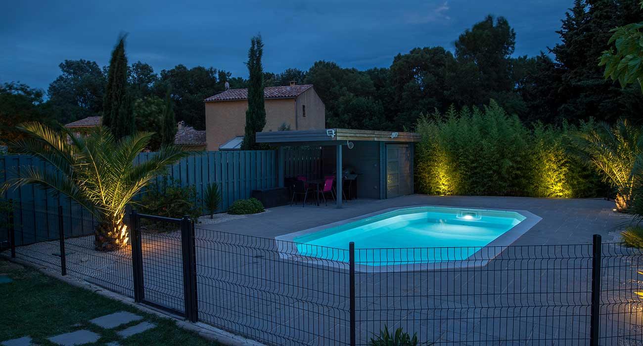 amenagement piscine eclairage