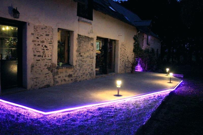 eclairage exterieur terrasse piscine