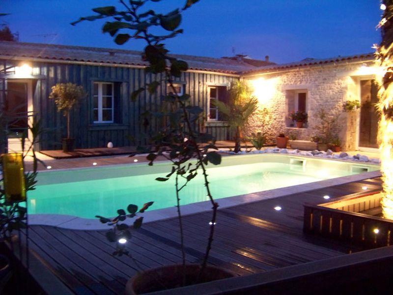 eclairage piscine et jardin