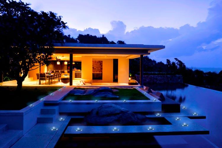 Spot LED extérieur 45 idées sur l éclairage de jardin moderne