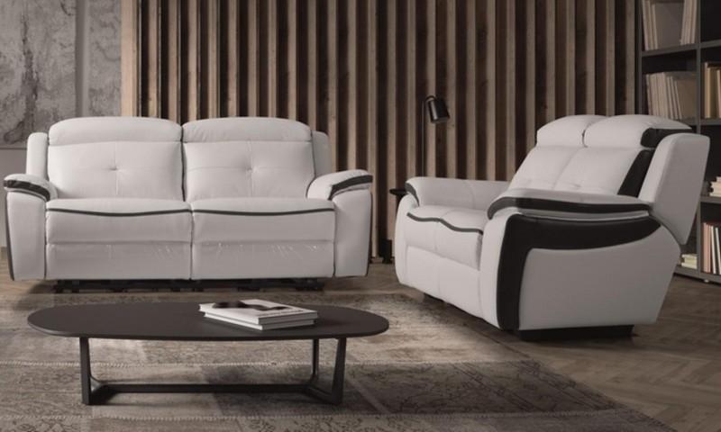 Ensemble canapé de relaxation 3 places électrique et 2
