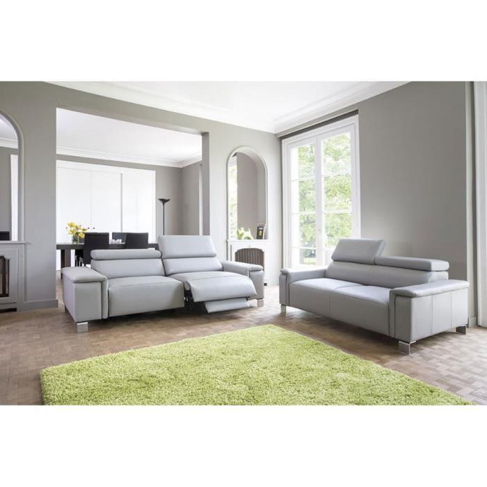 Ensemble canapé de relaxation électrique 3 2 places