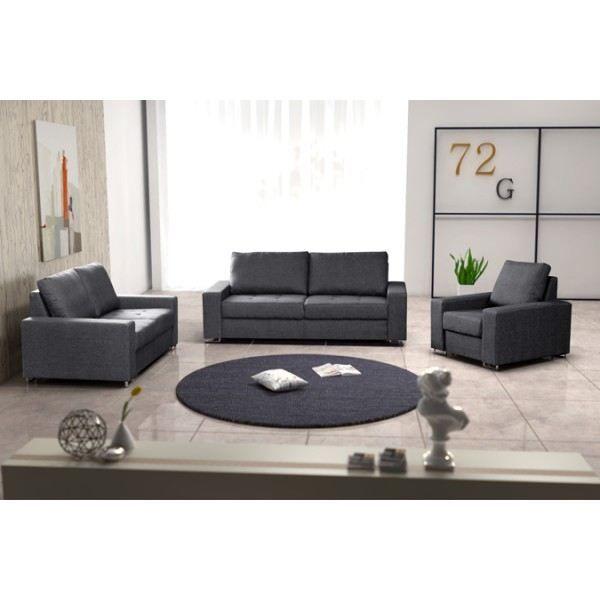 Ensemble de 2 canapés fauteuil COFFEE gris Achat