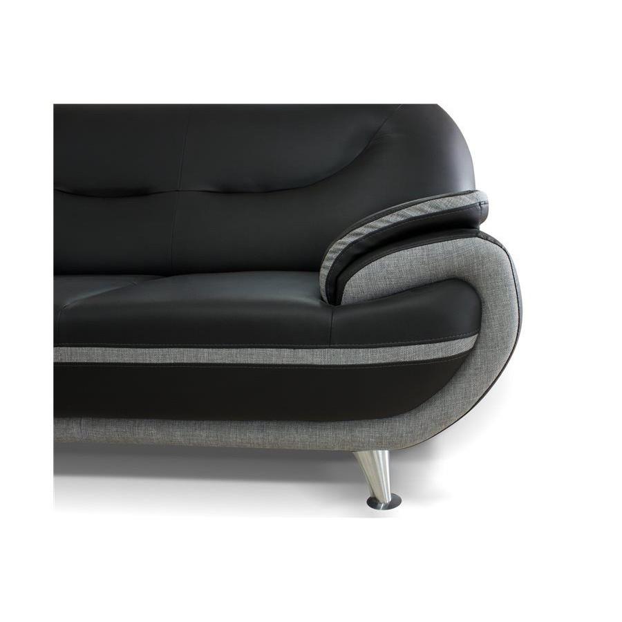 Salon ensemble canapé noir et gris forium