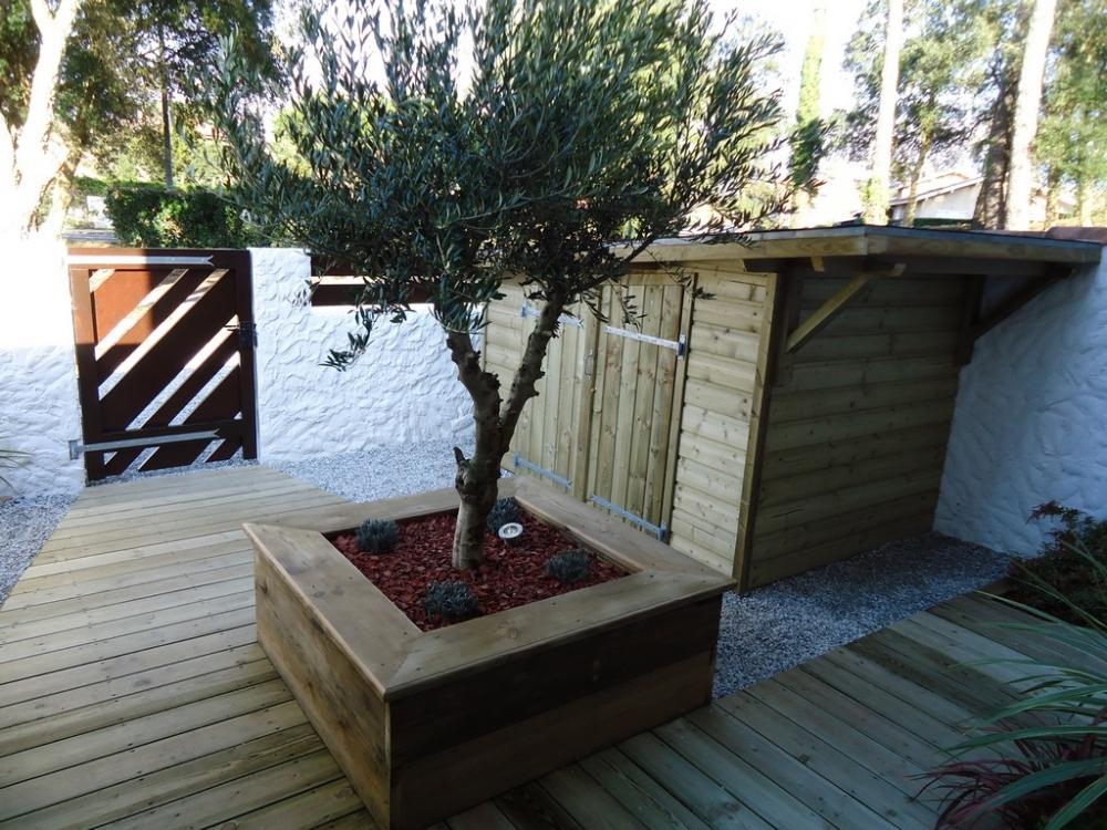 construction bois landes aménagement extérieur bois Capbreton