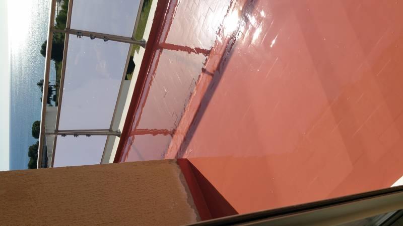 Entreprise étanchéité Terrasse Étanchéité Liquide à La Ciotat Sur Une Terrasse Carrelée