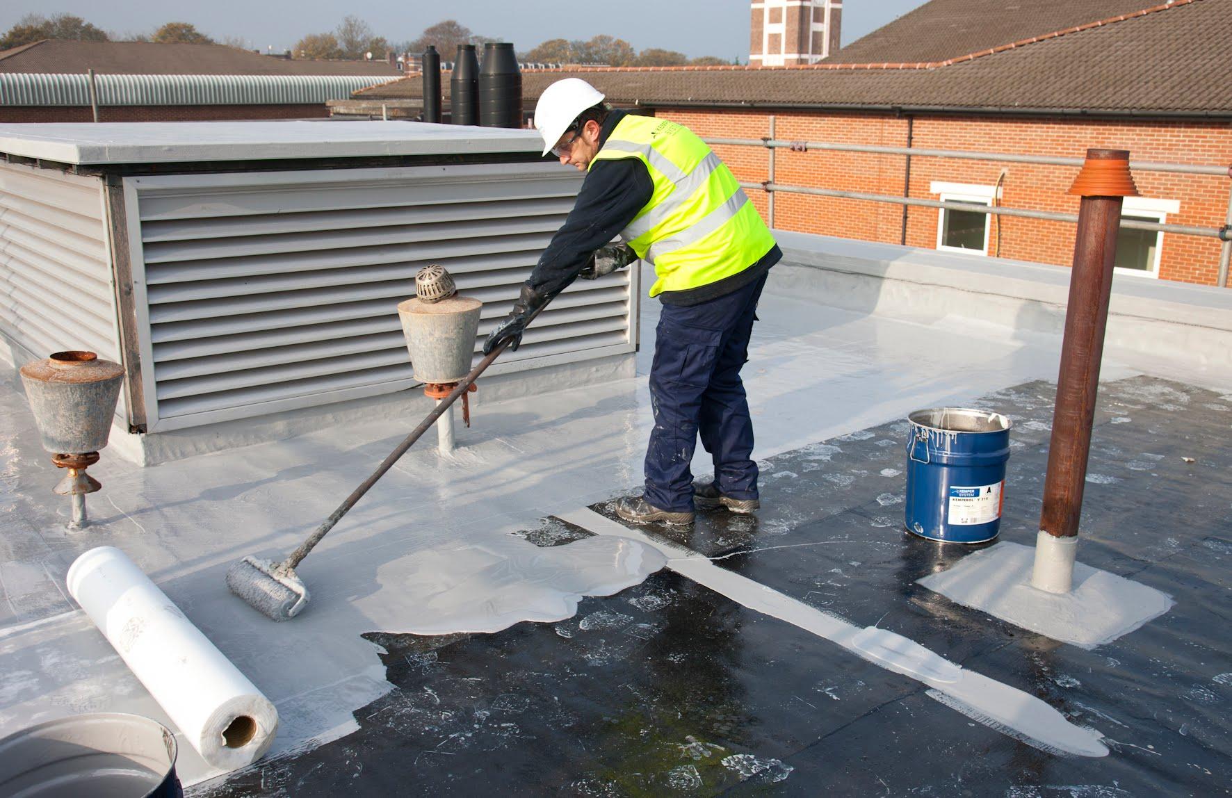 étanchéité De Terrasse L Etanchéité Liquide Armée Kemperol En toiture Terrasse