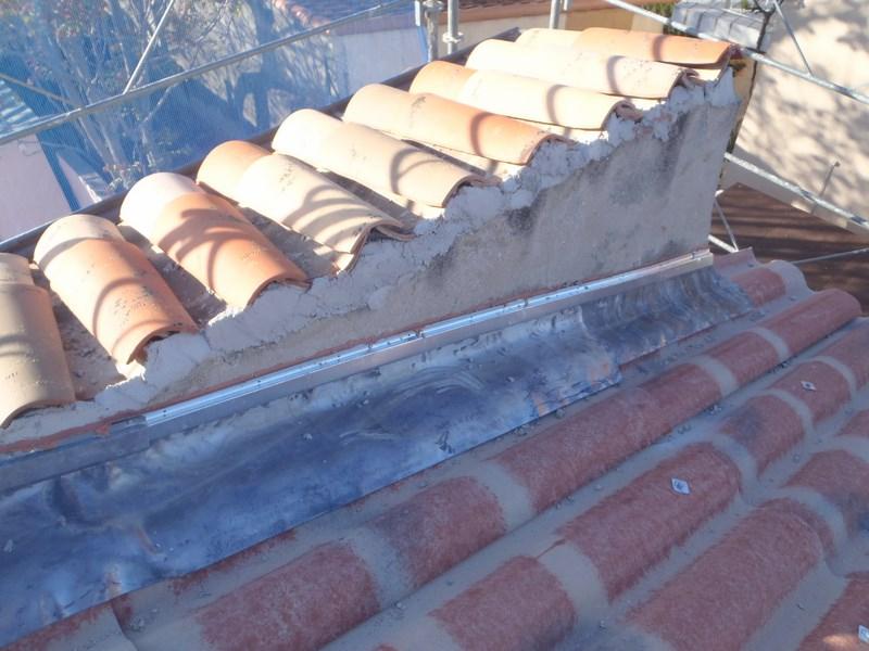 Etancheité de toiture en solin en plomb Pose et