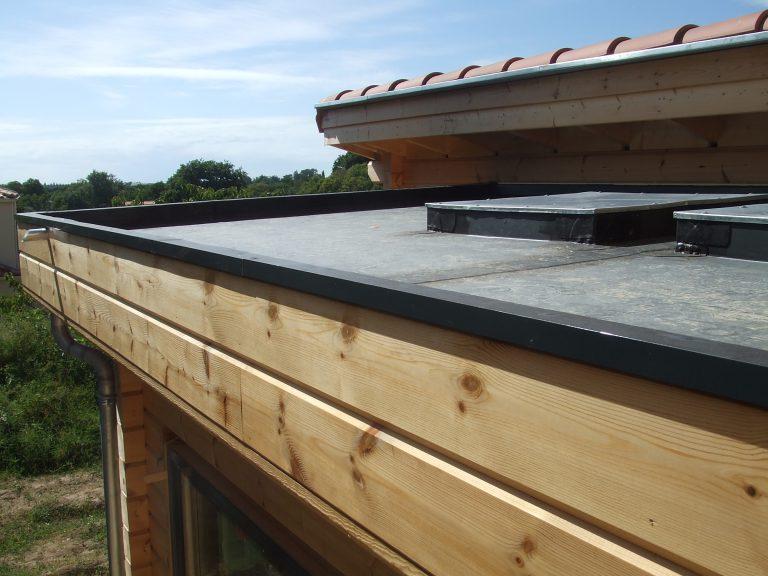Modèle et pose gouttière alu étanchéité toit terrasse EPDM