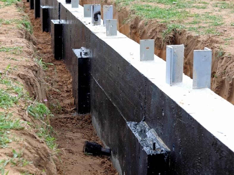 Étanchéité des fondations et des murs enterrés