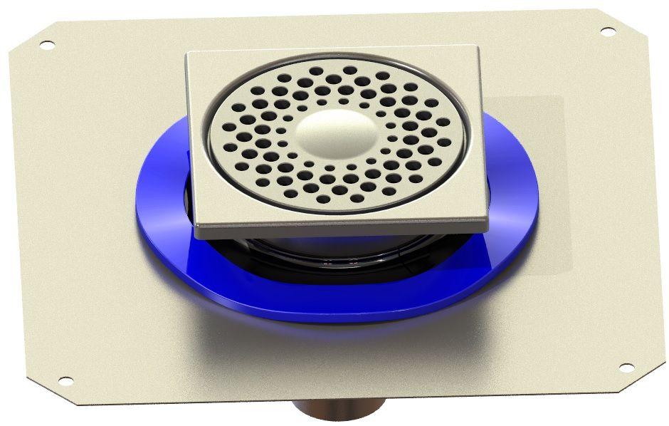 LIMATEC Siphon de sol télescopique 1550RBD en inox pour